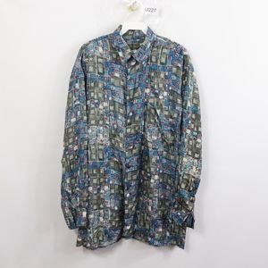 90s Mens Medium Fresh Print Geometric Shirt